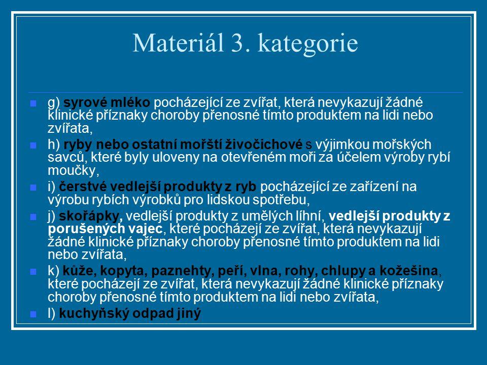 Materiál 3. kategorie