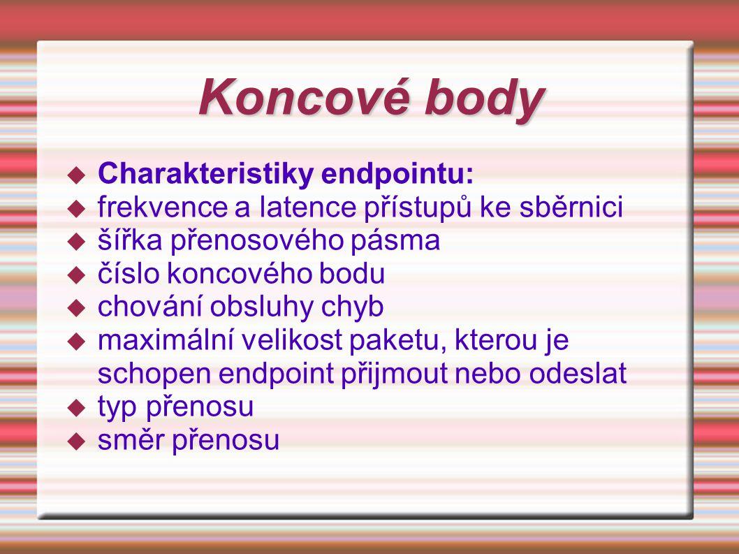 Koncové body Charakteristiky endpointu: