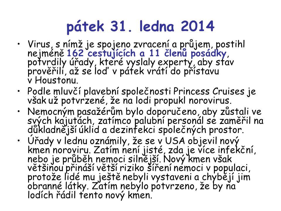 pátek 31. ledna 2014