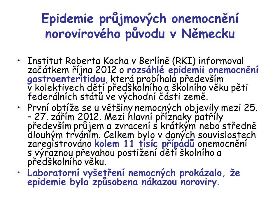 Epidemie průjmových onemocnění norovirového původu v Německu