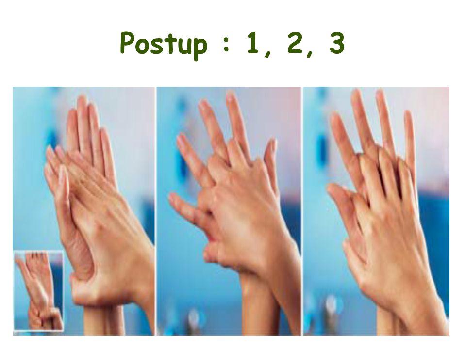 Postup : 1, 2, 3