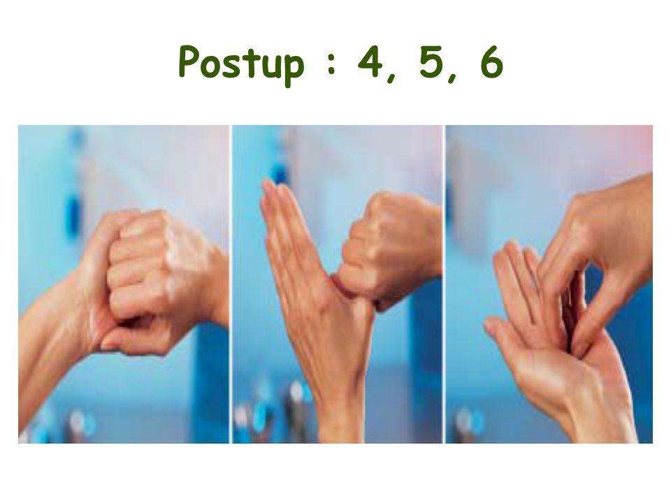 Postup : 4, 5, 6