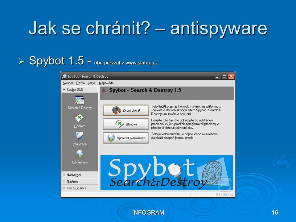 Jak se chránit – antispyware
