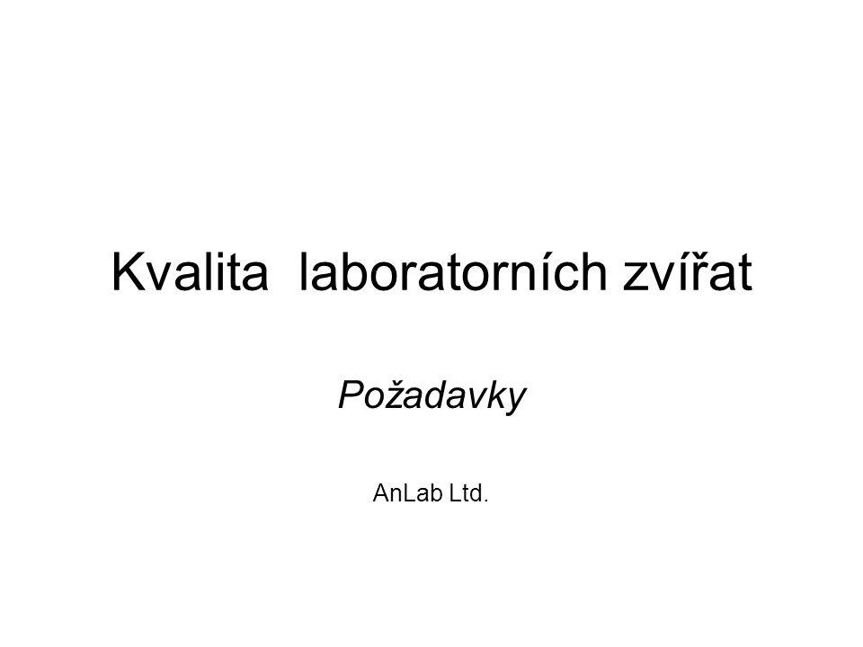 Kvalita laboratorních zvířat