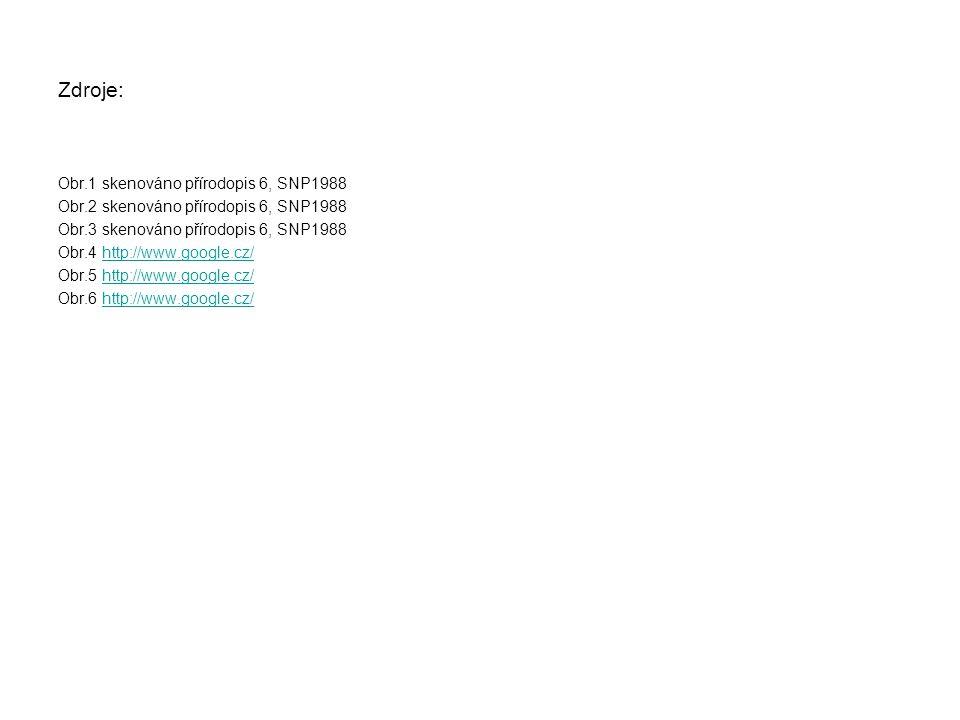 Zdroje: Obr.1 skenováno přírodopis 6, SNP1988