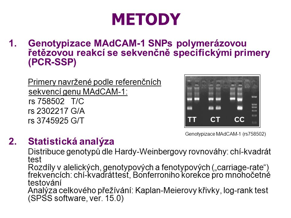 Genotypizace MAdCAM-1 (rs758502)