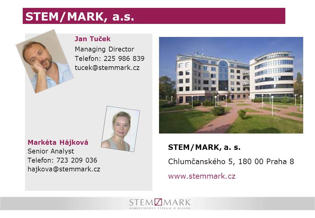 STEM/MARK, a.s. STEM/MARK, a. s. Chlumčanského 5, 180 00 Praha 8