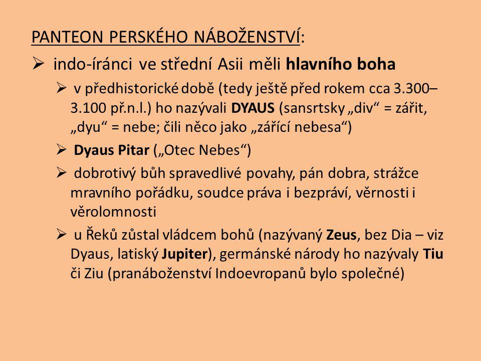 PANTEON PERSKÉHO NÁBOŽENSTVÍ: