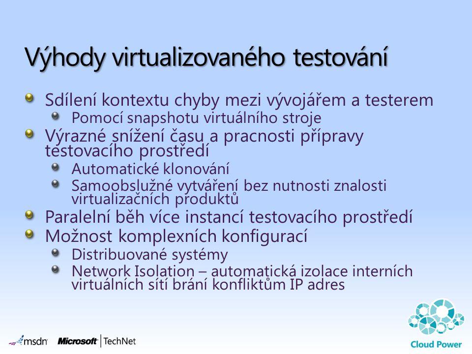 Výhody virtualizovaného testování