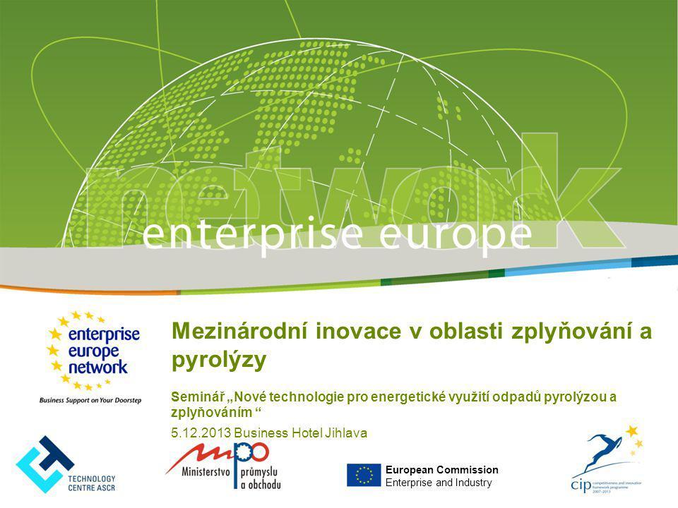 Mezinárodní inovace v oblasti zplyňování a pyrolýzy