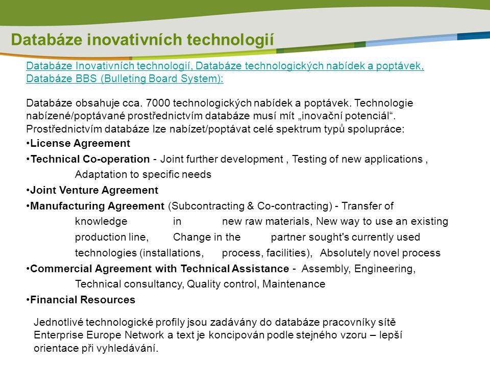 Databáze inovativních technologií