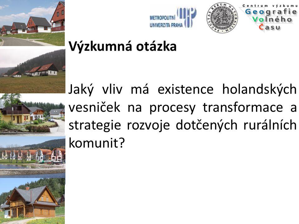 Výzkumná otázka Jaký vliv má existence holandských vesniček na procesy transformace a strategie rozvoje dotčených rurálních komunit