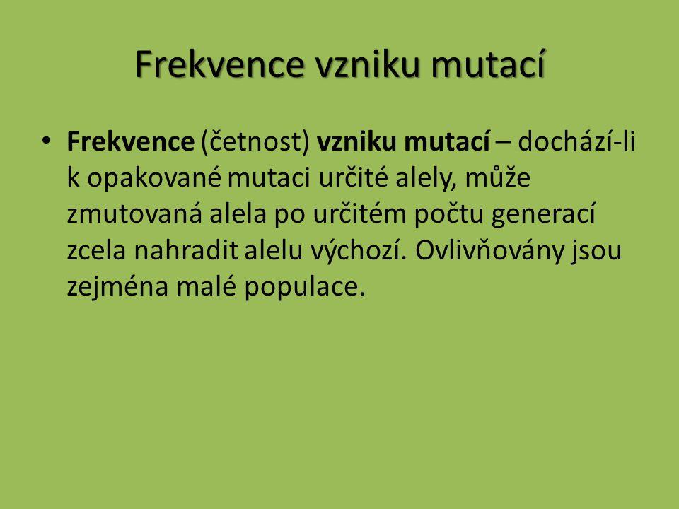 Frekvence vzniku mutací