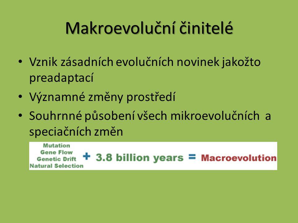 Makroevoluční činitelé