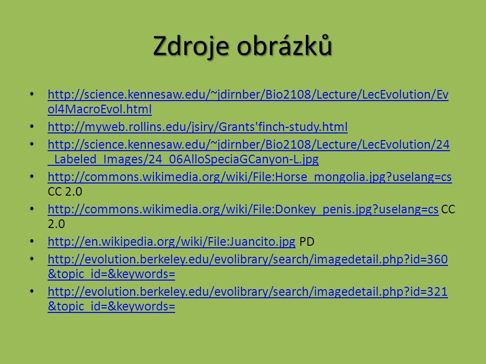 Zdroje obrázků http://science.kennesaw.edu/~jdirnber/Bio2108/Lecture/LecEvolution/Evol4MacroEvol.html.