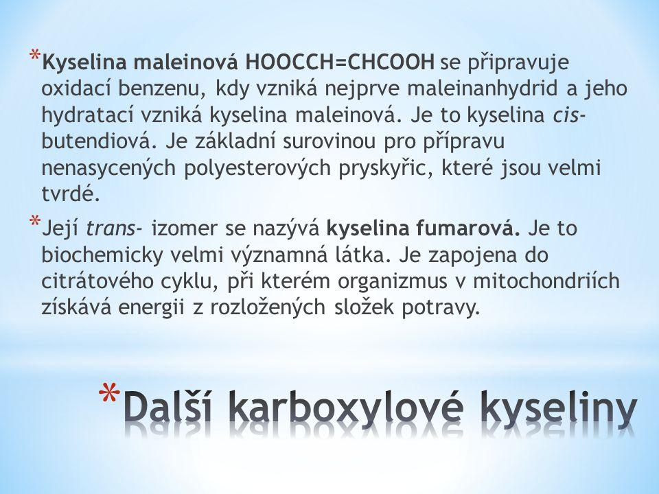 Další karboxylové kyseliny