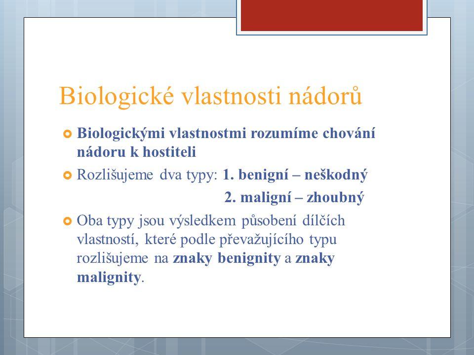 Biologické vlastnosti nádorů