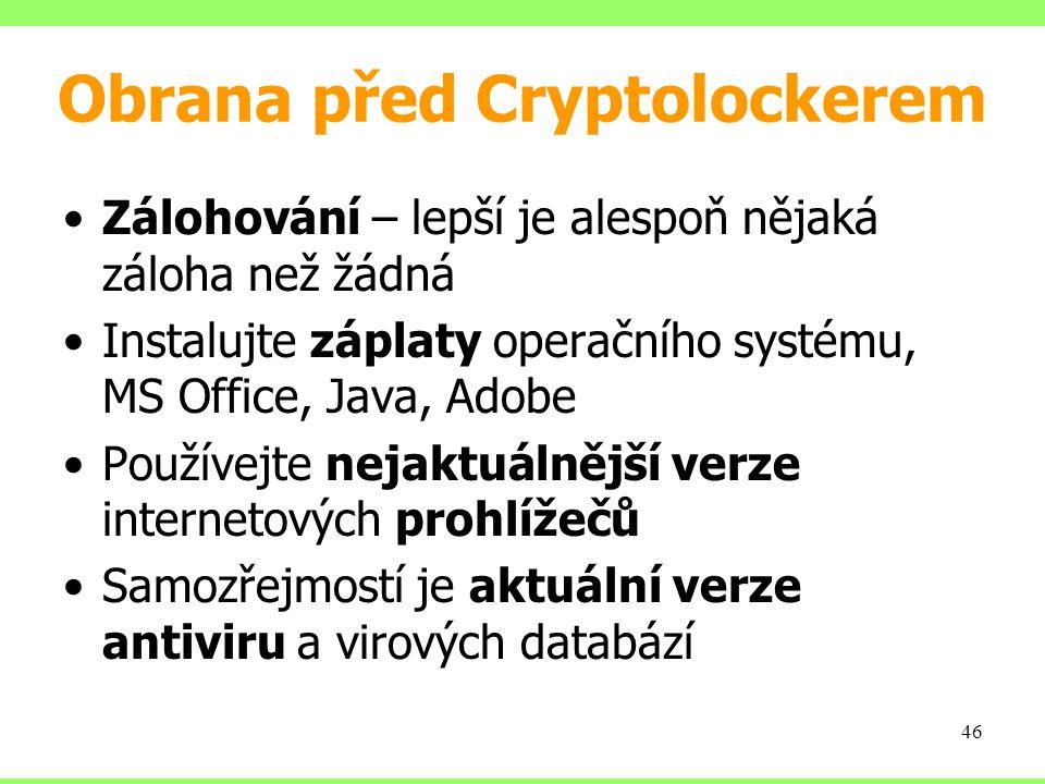 Obrana před Cryptolockerem