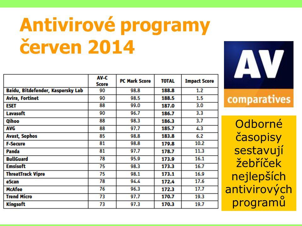 Antivirové programy červen 2014