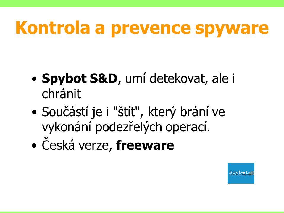 Kontrola a prevence spyware