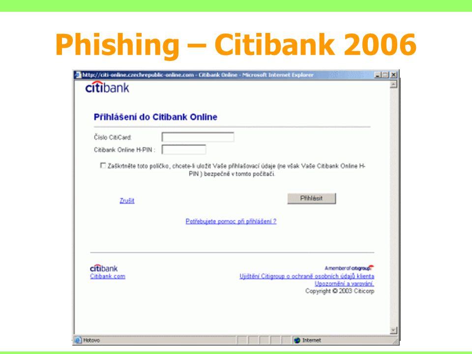 Phishing – Citibank 2006