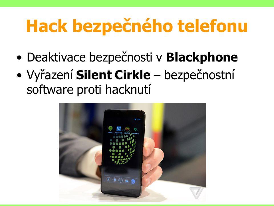 Hack bezpečného telefonu