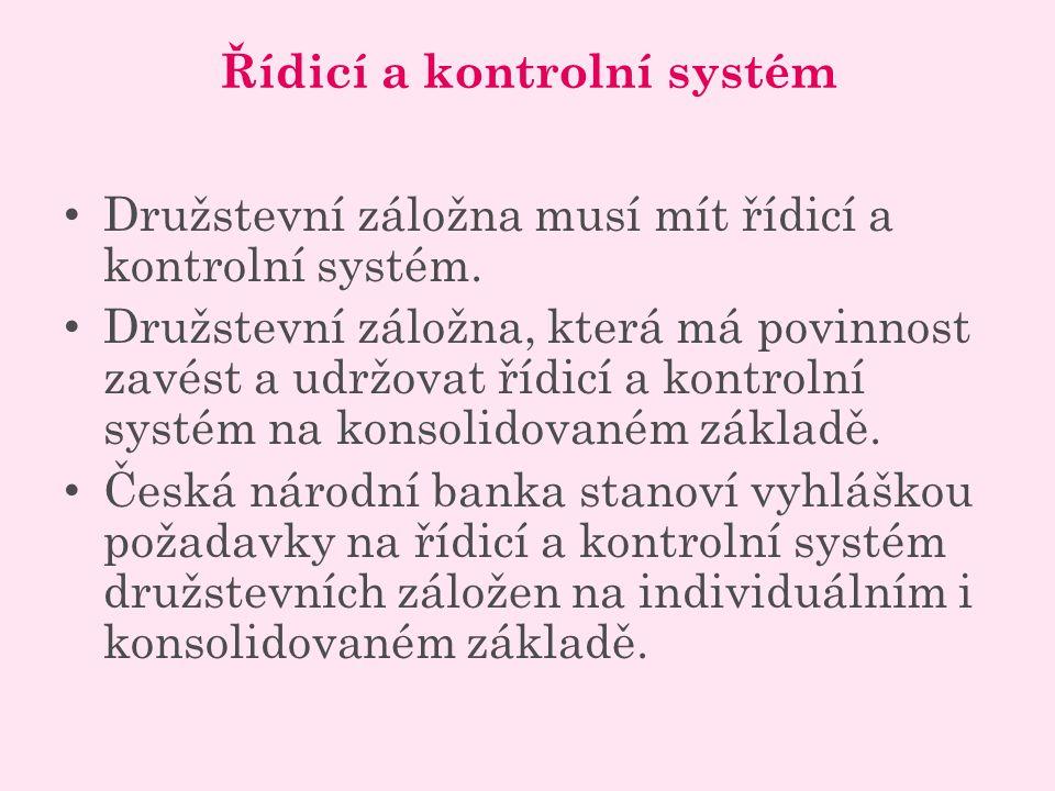 Řídicí a kontrolní systém