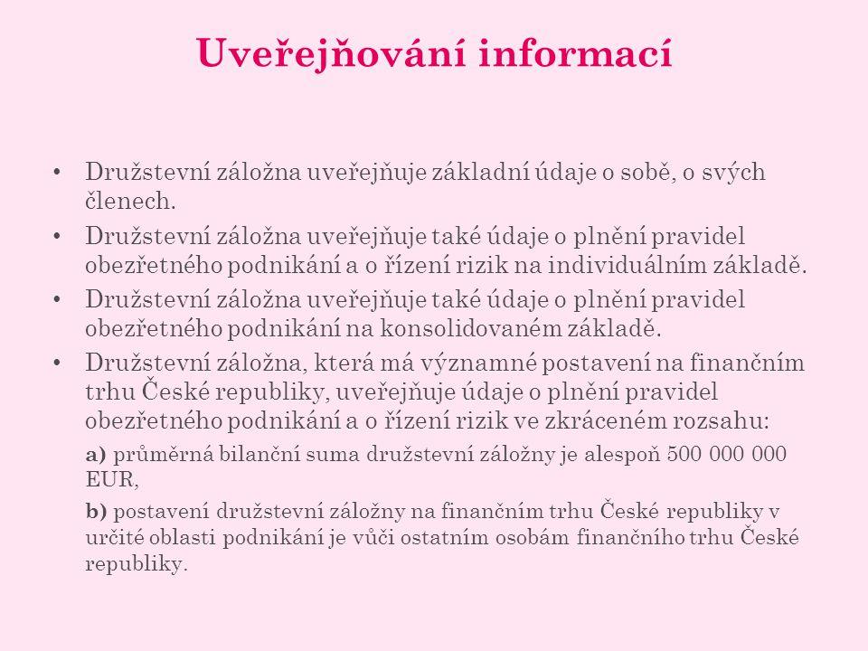 Uveřejňování informací