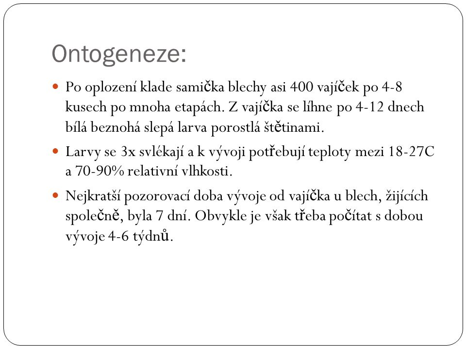 Ontogeneze: