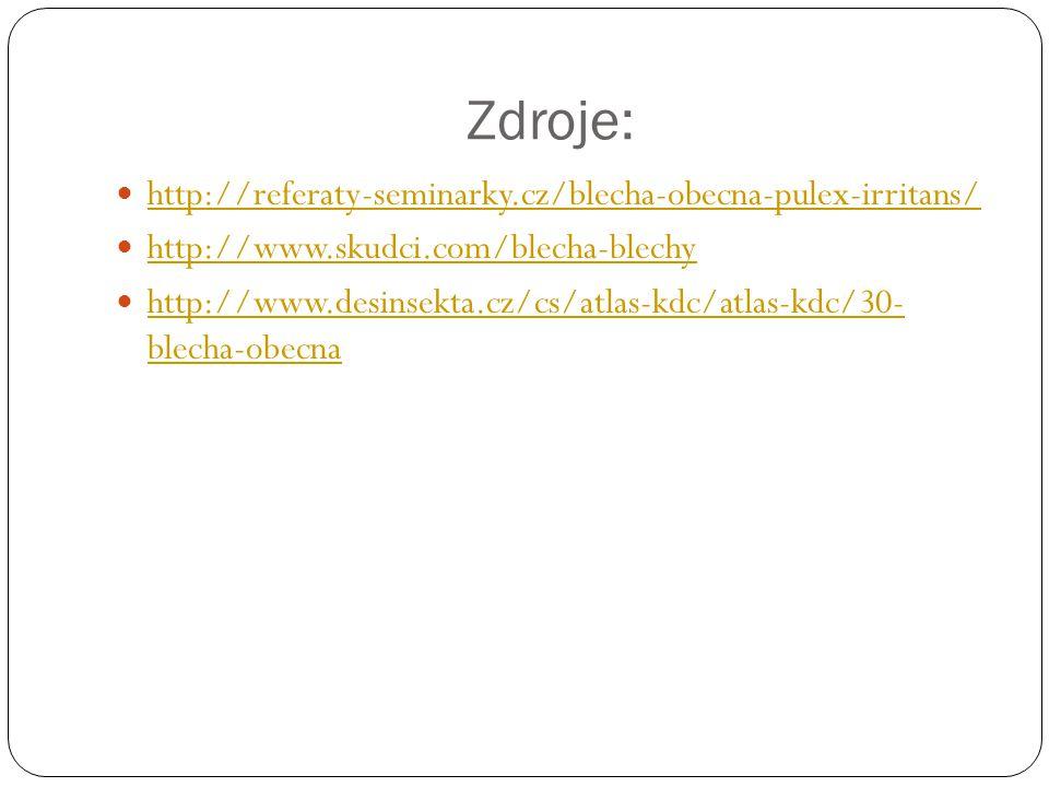 Zdroje: http://referaty-seminarky.cz/blecha-obecna-pulex-irritans/