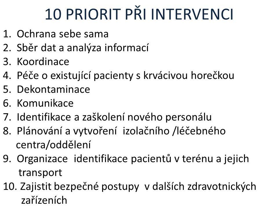 10 PRIORIT PŘI INTERVENCI