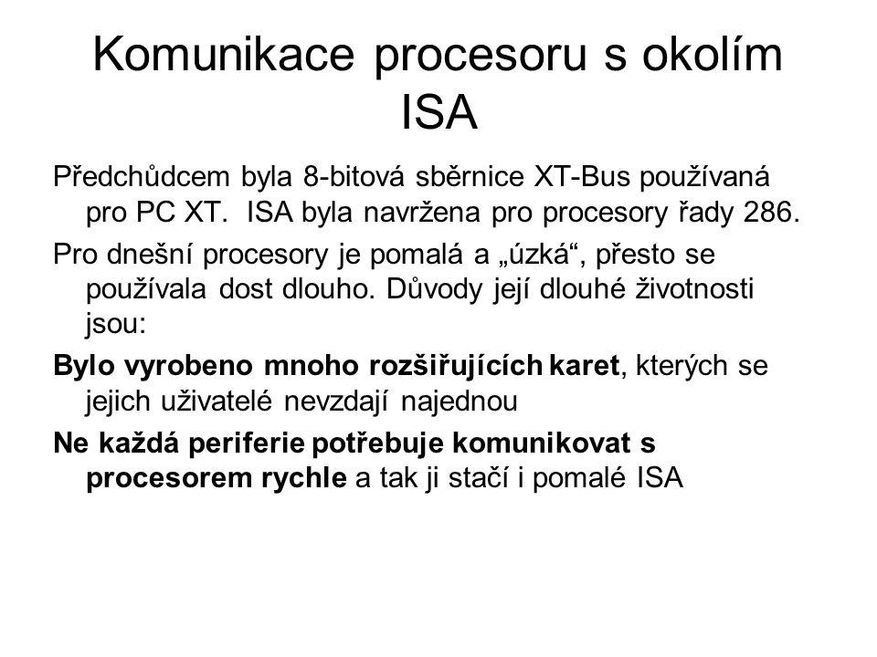 Komunikace procesoru s okolím ISA