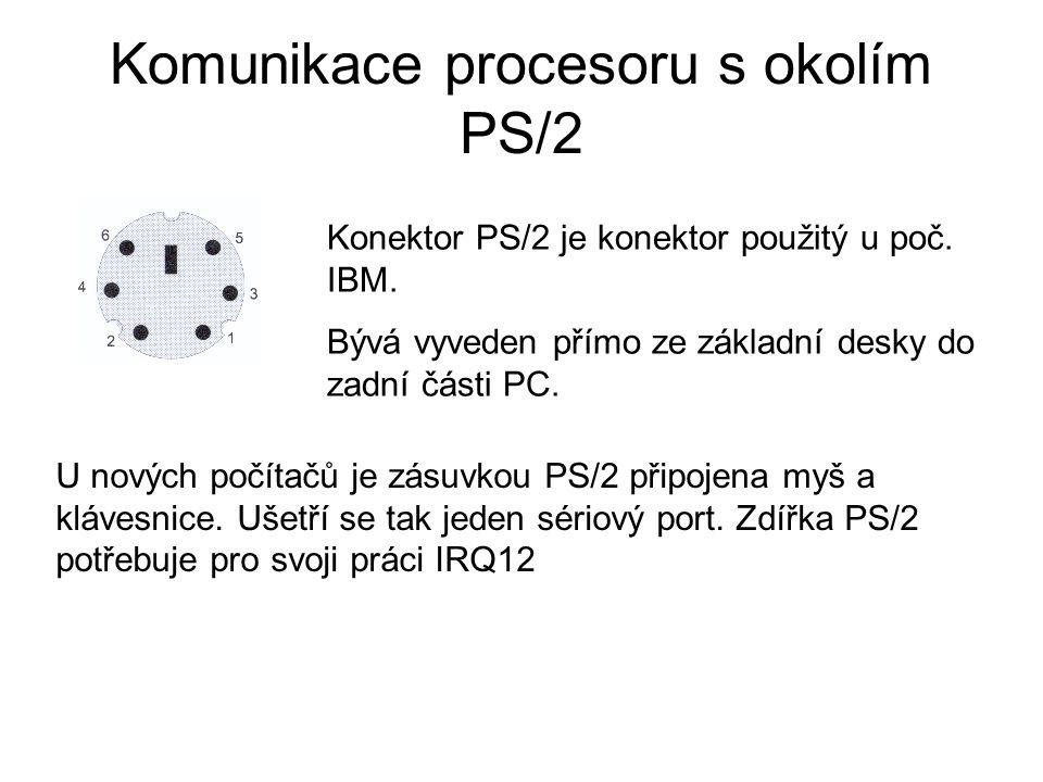 Komunikace procesoru s okolím PS/2