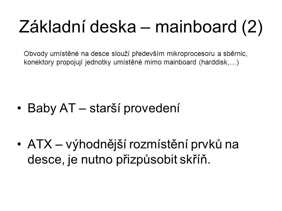 Základní deska – mainboard (2)