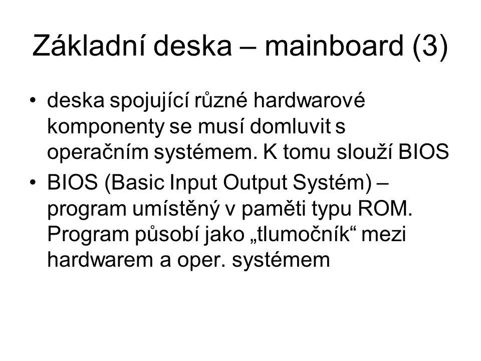 Základní deska – mainboard (3)