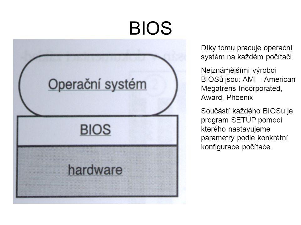 BIOS Díky tomu pracuje operační systém na každém počítači.