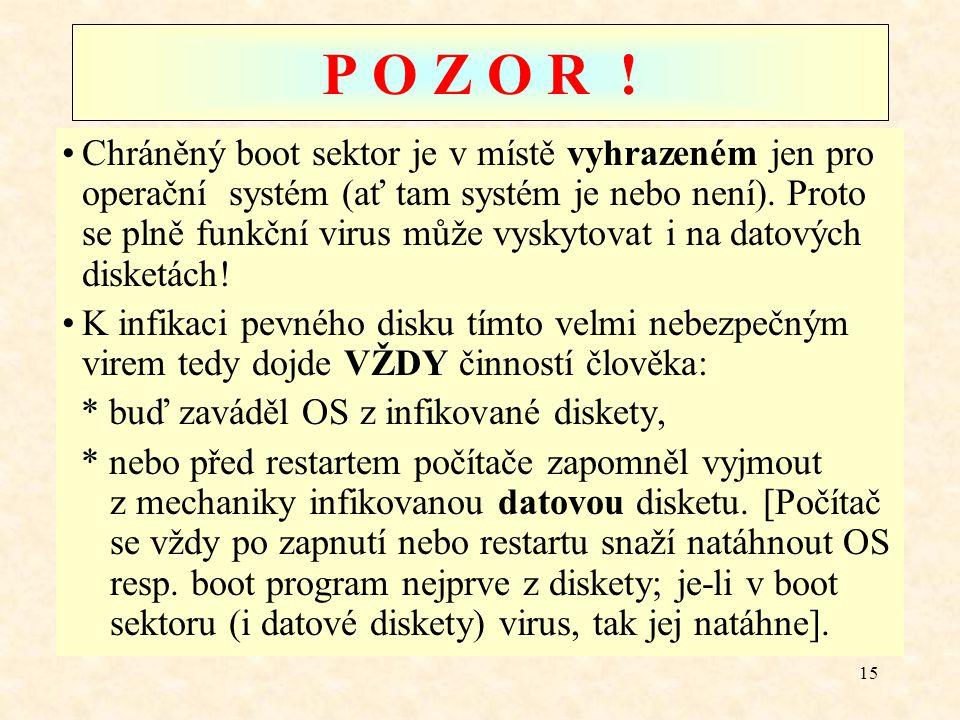 P O Z O R !