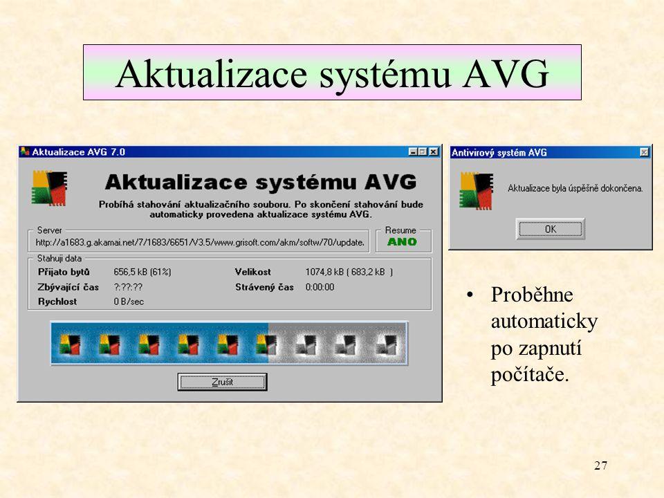 Aktualizace systému AVG