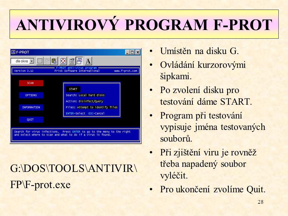 ANTIVIROVÝ PROGRAM F-PROT