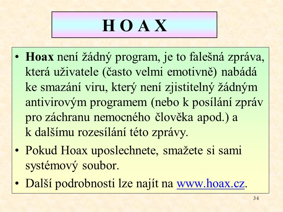 H O A X