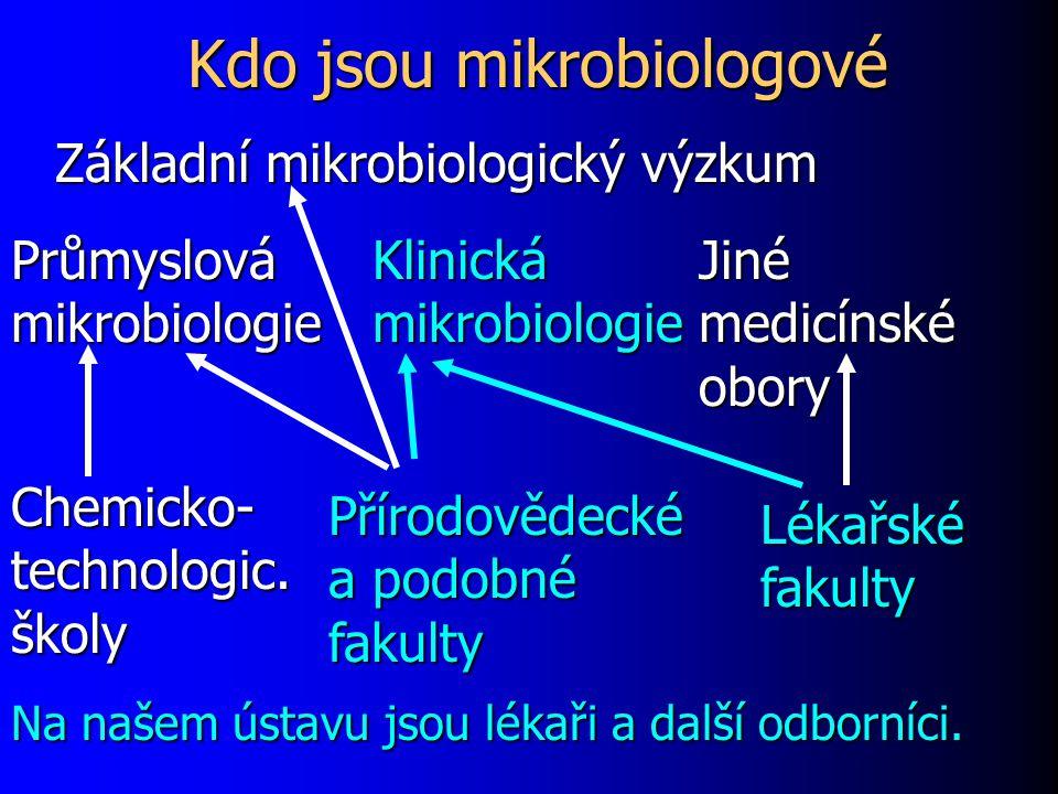 Kdo jsou mikrobiologové