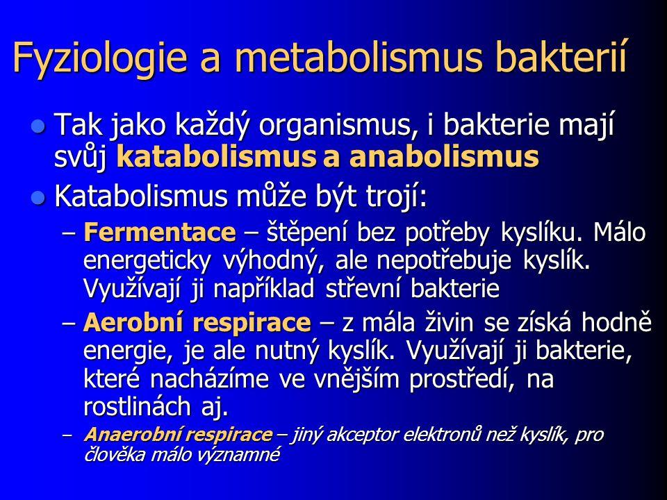 Fyziologie a metabolismus bakterií