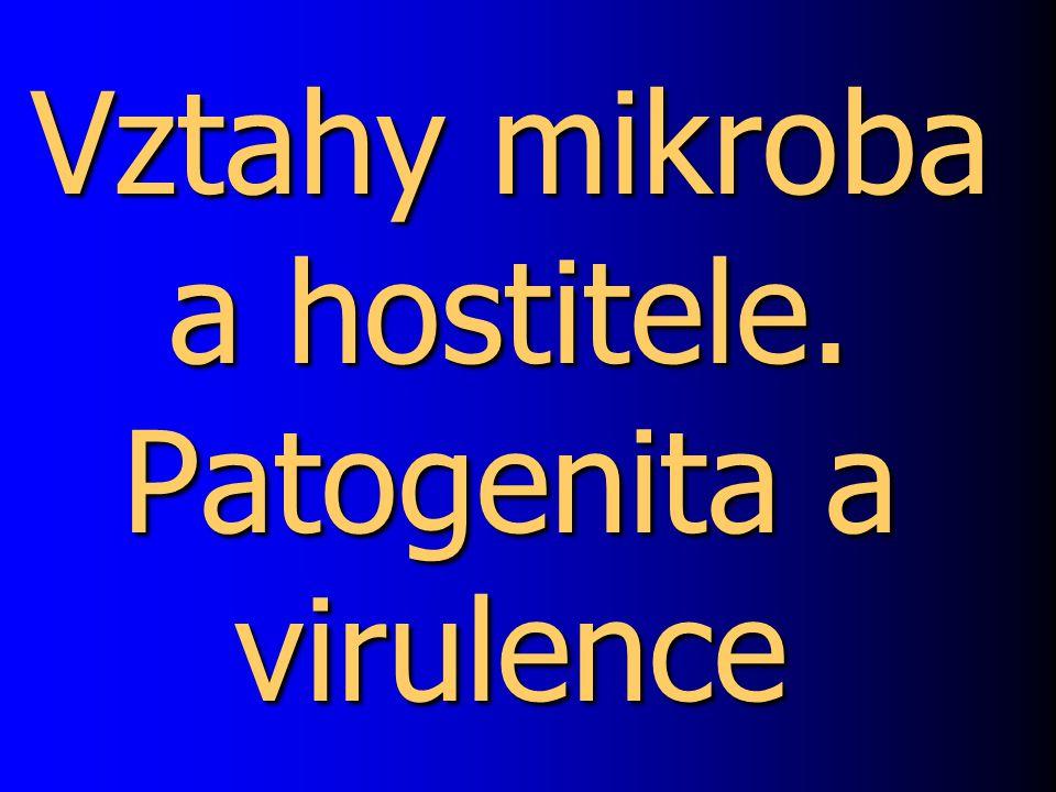 Vztahy mikroba a hostitele. Patogenita a virulence