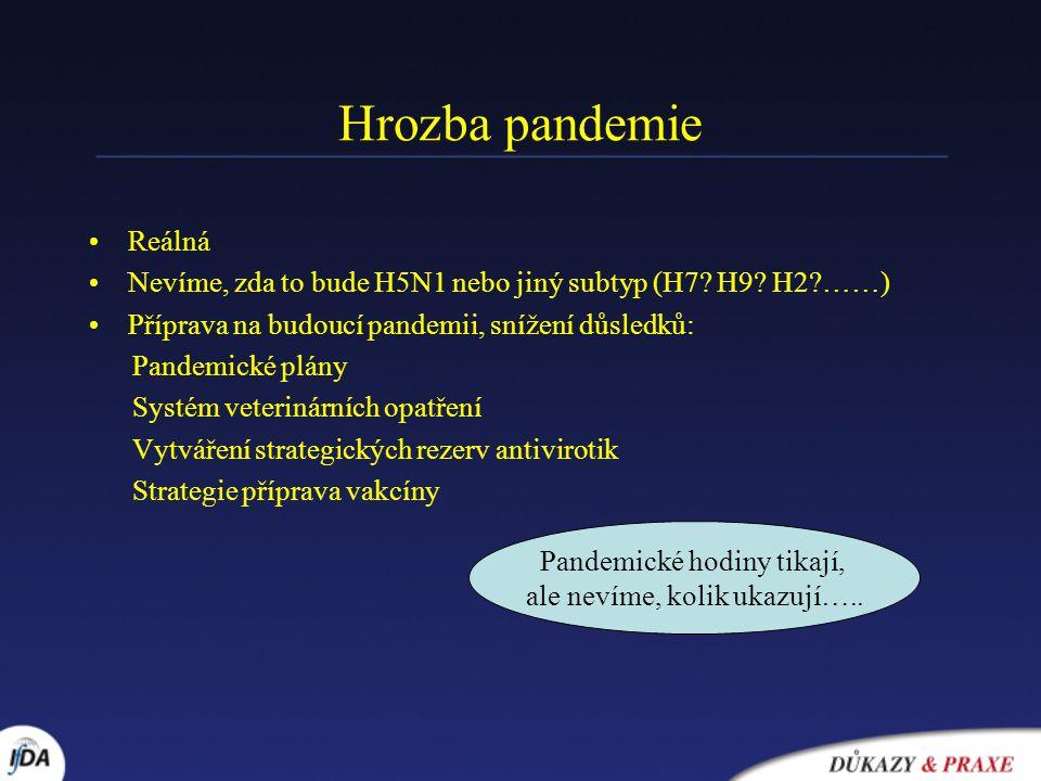 Hrozba pandemie Reálná