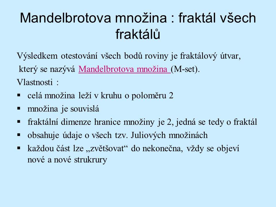 Mandelbrotova množina : fraktál všech fraktálů