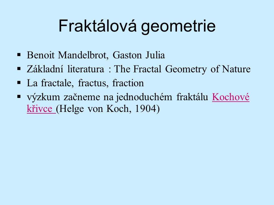 Fraktálová geometrie Benoit Mandelbrot, Gaston Julia