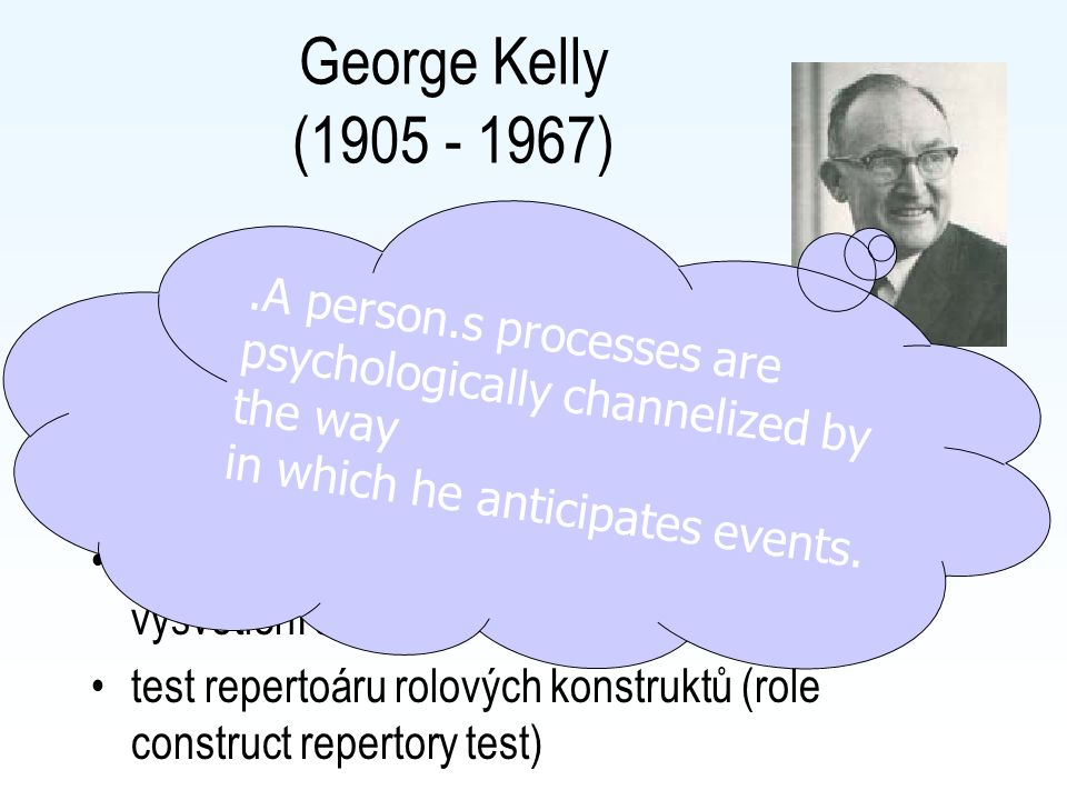 George Kelly (1905 - 1967) .A person.s processes are