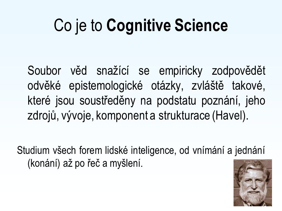 Co je to Cognitive Science