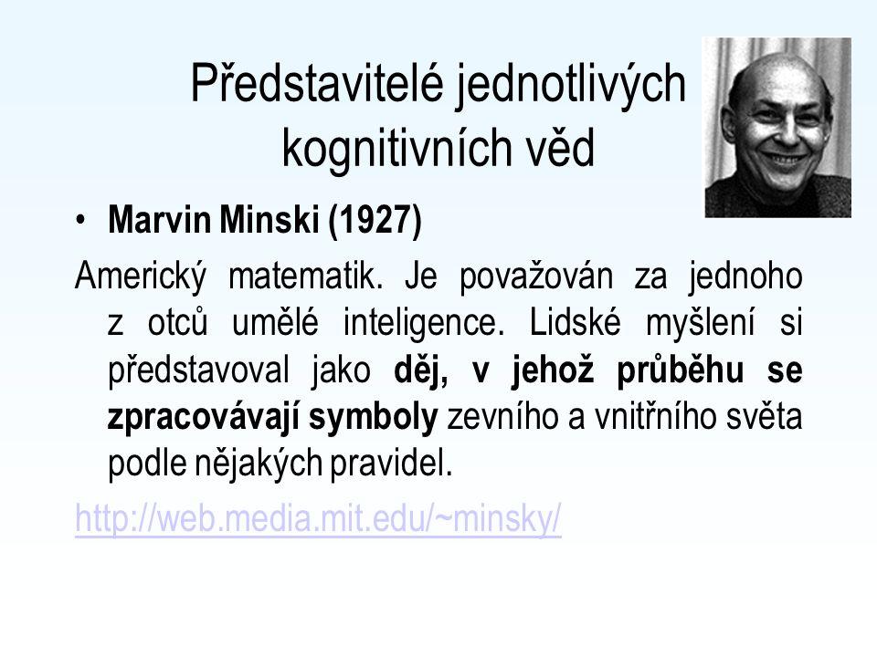 Představitelé jednotlivých kognitivních věd