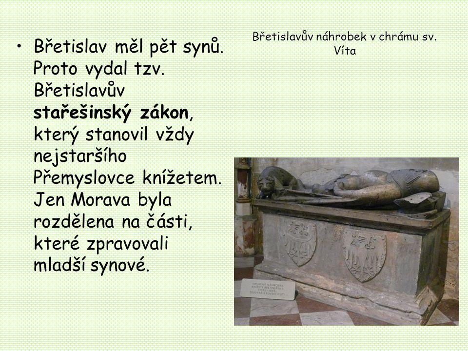 Břetislavův náhrobek v chrámu sv. Víta
